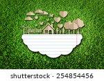 paper cut of eco on green grass | Shutterstock . vector #254854456