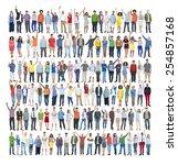 people diversity success... | Shutterstock . vector #254857168