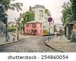 photo of a street in montmartre ...   Shutterstock . vector #254860054