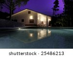 an house with a pool located at ... | Shutterstock . vector #25486213