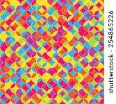 rainbow pattern | Shutterstock .eps vector #254865226