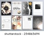 set of design templates for... | Shutterstock .eps vector #254865694