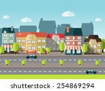 landscape city panoramic view... | Shutterstock .eps vector #254869294