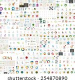 vector abstract company logos... | Shutterstock .eps vector #254870890