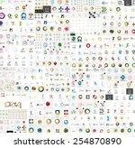 vector abstract company logos... | Shutterstock .eps vector #254870890