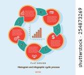 flat design  histogram and...   Shutterstock .eps vector #254873269