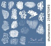 a set of scratches scribbles | Shutterstock .eps vector #254875393