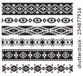 aztec navajo border vector... | Shutterstock .eps vector #254877916