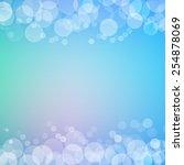 abstract bokeh sparkles frame... | Shutterstock .eps vector #254878069