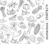 vector illustration outline... | Shutterstock .eps vector #254878174