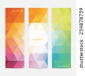 collection of the 3 colorful... | Shutterstock .eps vector #254878759