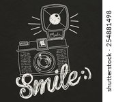 vintage camera illustration | Shutterstock .eps vector #254881498