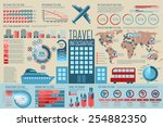 set of travel infographic... | Shutterstock .eps vector #254882350