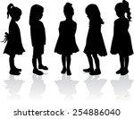 children silhouettes   Shutterstock .eps vector #254886040
