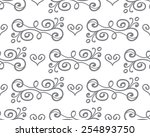 vector floral seamless pattern... | Shutterstock .eps vector #254893750