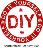 diy  do it yourself  rubber...   Shutterstock .eps vector #254894950