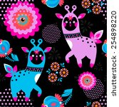 bright seamless pattern with... | Shutterstock .eps vector #254898220