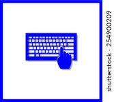 keyboard vector icon | Shutterstock .eps vector #254900209