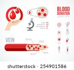 donor infographics icons set.... | Shutterstock .eps vector #254901586