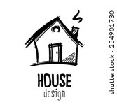 house drawing   Shutterstock . vector #254901730