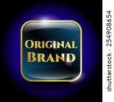 original brand object. golden... | Shutterstock .eps vector #254908654