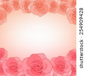 invitation cards with roses....   Shutterstock .eps vector #254909428