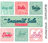 set of sale and special offer... | Shutterstock .eps vector #254910958