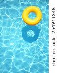 Yellow Pool Float  Ring...