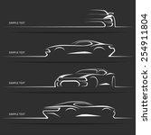 Set Of Modern Car Silhouettes....