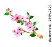 illustration of origami cherry... | Shutterstock .eps vector #254912524