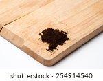 threaded screw on white... | Shutterstock . vector #254914540