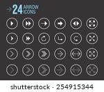 vector arrow icons | Shutterstock .eps vector #254915344