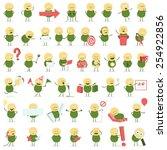 cute vector character in... | Shutterstock .eps vector #254922856