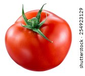 tomato isolated on white. with... | Shutterstock . vector #254923129