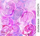 pink violet tender roses | Shutterstock .eps vector #254923474