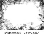 Smoke Frame On White Background
