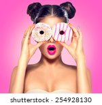 beauty fashion model girl... | Shutterstock . vector #254928130