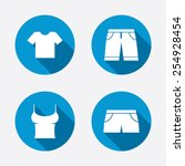 clothes icons. t shirt and... | Shutterstock .eps vector #254928454