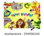 Happy Birthday Card With Jungl...