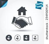 home handshake sign icon.... | Shutterstock .eps vector #254930914