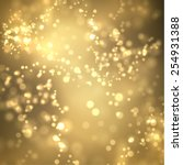 golden bokeh vector background. ...   Shutterstock .eps vector #254931388