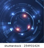 abstract futuristic technology...