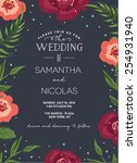 wedding invitation card with... | Shutterstock .eps vector #254931940