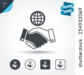 world handshake sign icon.... | Shutterstock .eps vector #254932069