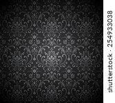 damask vignette   pattern... | Shutterstock .eps vector #254933038
