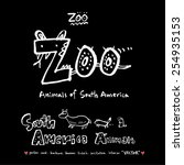 hand drawn zoo illustration  ...   Shutterstock .eps vector #254935153