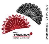 flamenco design over white... | Shutterstock .eps vector #254937079