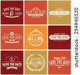typographic save the date... | Shutterstock .eps vector #254940520