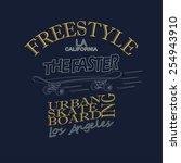 skateboarding t shirt graphic... | Shutterstock .eps vector #254943910