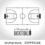 sport design over white... | Shutterstock .eps vector #254950168